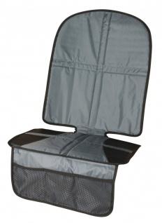 Kindersitz Unterlage grau rutschsicher, Kinder Autositzauflage, hohes Rückent...