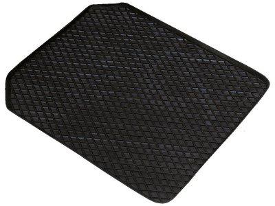 Universal Auto Gummimatten Randwaben schwarz vorn 53x41 cm, Anti Slip, rutschhemmende Spikes, Auto Fußmatten, Schutzmatten