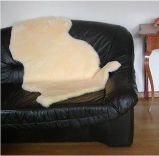 Natur Lammfell goldbeige geschoren, medizinische Gerbung, ca. 120 cm