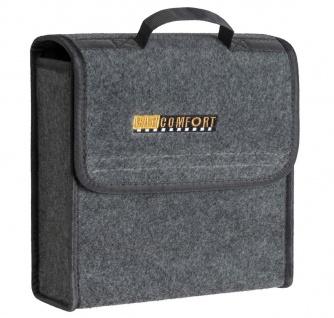 praktische Kofferraum Auto KFZ Tasche S grau mit Klettverschluss+Druckknöpfen...