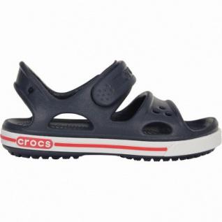 Crocs Crocband II Sandal PS Jungen Crocs Sandalen navy, verstellbarer Klettverschluss, 4338120/28-29