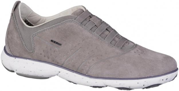 GEOX Herren Leder Sneakers stone, Nebula Ausstattung, herausnehmbares Geox Le...