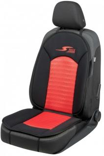 komfortable Universal Polyester Auto Sitzauflage S-Race rot, 12 mm Schaumstof...