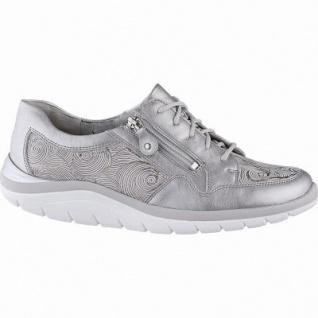 Waldläufer Harper 14 Damen Metallic Leder Sneakers taupe, Leder Fußbett, Extra Weite H, für lose Einlagen, 1342149/4.5