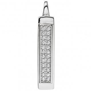 Anhänger Kettenanhänger 925 Sterling Silber mit Zirkonia Silberanhänger