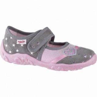 huge discount 704f3 55d25 Superfit süße Mädchen Textil Hausschuhe grau, mittlere Weite, anatomisches  Superfit Fußbett, 3841105/35