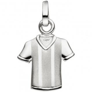 Anhänger Trikot 925 Sterling Silber matt mattiert Silberanhänger - Vorschau