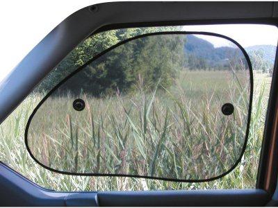 2 Stück Auto PKW Sonnenschutz Seitenscheiben halbtransparent 65x40 cm, 2 Saugnäpfe, waschbar, alle Fahrzeuge - Vorschau 2