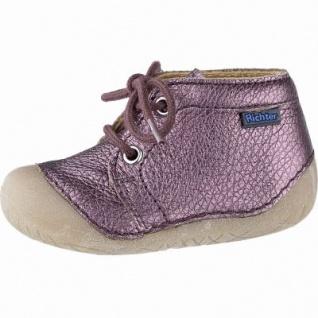 Richter Mädchen Metallic Leder Lauflern Boots burgundy, mittlere Weite, Leder Futter, Lederdecksohle, 3041102/18