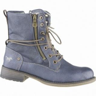 Mustang kuschlige Damen Synthetik Boots dunkelblau, Warmfutter, warme Mustang Decksohle, 1639109
