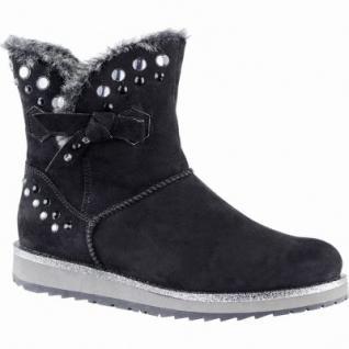 Marco Tozzi coole Damen Velour Imitat Winter Boots schwarz, Warmfutter, warme Decksohle, 1639345