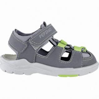 Pepino Gery coole Jungen Synthetik Lauflern Sandalen anthrazit, mittlere Weite, Pepino Leder Fußbett, 3140131