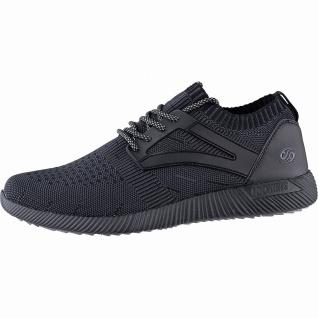 Dockers coole Herren Strick Sneakers schwarz, weiche Decksohle