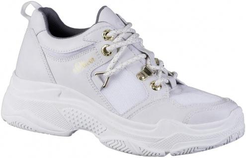 S.OLIVER Damen Synthetik Sneakers white, herausnehmbare weiche Soft Foam Einl...