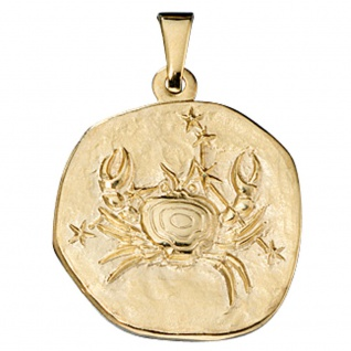 Anhänger Sternzeichen Krebs 333 Gold Gelbgold Sternzeichenanhänger
