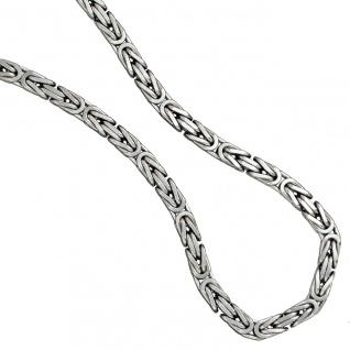 Königskette 925 Silber 7, 2 mm 50 cm Karabiner Halskette Kette Silberkette