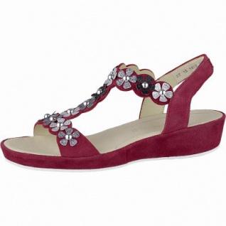 Ara Capri-Highsoft modische Damen Leder Sandalen rot, weiches Fußbett, Comfort Weite G, 1542110/37
