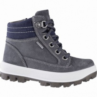 Superfit Jungen Winter Leder Gore Tex Boots grau, 7 cm Schaft, Warmfutter, warmes Fußbett, mittlere Weite, 3741143/34