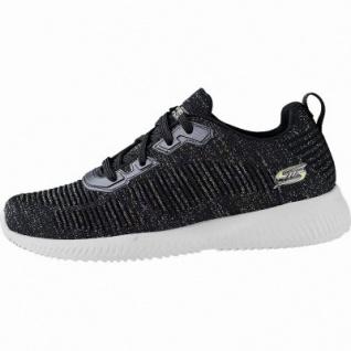 Skechers Bobs Squad Total Glam coole Damen Strick Sneakers black, herausnehmbares Memory Foam-Fußbett, 4241143/36