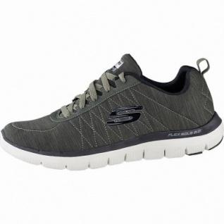 Skechers Flex Advantage 2.0 Chillston coole Herren Synthetik Sneakers oliv, Air-Cooled Memory Foam-Fußbett, 4241151