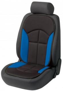 bequeme Universal Auto Sitzauflage Novara blau, hohes Rückenteil, 30 Grad waschbar, alle PKW