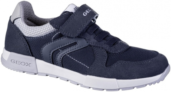 GEOX Jungen Synthetik Sneakers navy, Geox Leder Fußbett