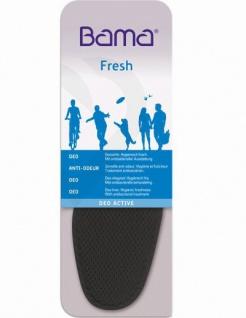 Bama Deo Active Damen, Herren Einlegesohle mit Aktivkohle, antibakterieller Ausstattung, 6633101/48