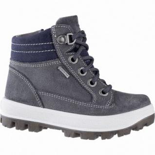 Superfit Jungen Winter Leder Gore Tex Boots grau, 7 cm Schaft, Warmfutter, warmes Fußbett, mittlere Weite, 3741143/37