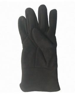 Damen Velourleder Lammfell Fingerhandschuhe aus Fellstücken schwarz, Damen Fell Handschuhe, Größe 8 - Vorschau 2