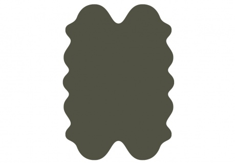 exklusive Lammfell Fellteppiche dunkelgrün gefärbt, 4 Einzelfelle, waschbar, ...