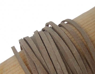 10 Stück Velourleder Rindleder Vierkantriemen beige am Bund, Länge 100 cm, St...