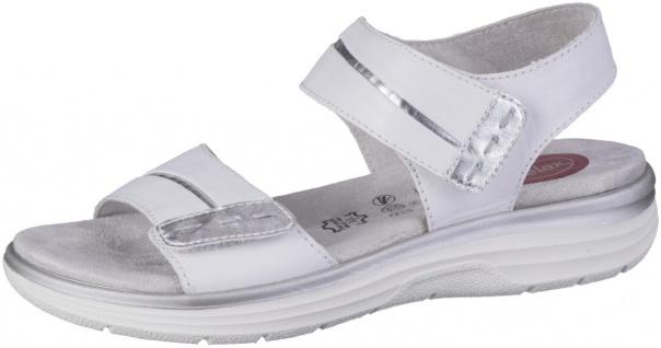 JANA Damen Leder Sandalen white, Extra Weite H, Soft Flex System, Jana Relax