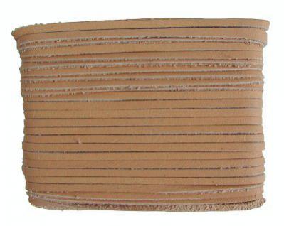 weiches Leder Flechtband Ziegenleder auf Karte natur, Länge 10 m, Breite ca. 2, 5 mm, Stärke ca. 1, 0 mm