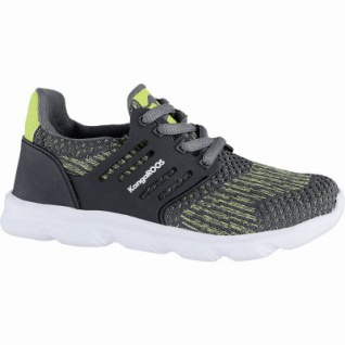 Kangaroos Draga Kids coole Jungen Strick Sneakers steel grey, Memory Foam-Fußbett, Laschen-Tasche, 4240125/36