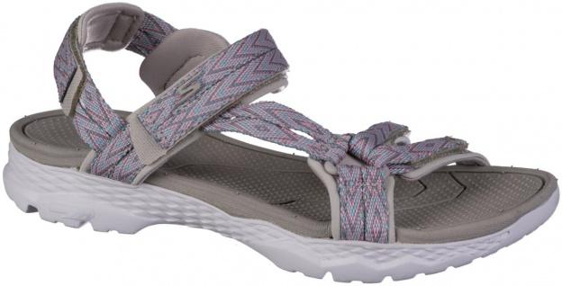 SKECHERS Go Walk Outdoor Damen Textil Trekking Sandalen taupe, weiches GOga M...