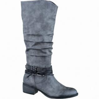 Marco Tozzi trendige Damen Synthetik Schaftstiefel grey antik, leichtes Warmfutter, weiche Decksohle, 1637166