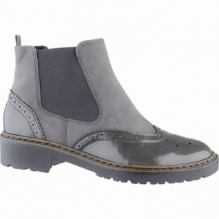 Jenny Portland-ST modische Damen Synthetik Boots grau, Comfort Weite G, Warmfutter, Jenny Fußbett, 1739142/37