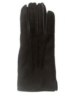 Damen Fingerhandschuhe Lammfell braun, Fellhandschuhe, Größe 7