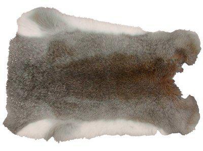 Kaninchenfell graubraun naturfarben, ca. 30x30 cm, Felle vom Kaninchen mit seidigem Haar