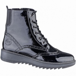 Marco Tozzi coole Damen Lack Synthetik Winter Stiefeletten schwarz, Warmfutter, 1639126/38