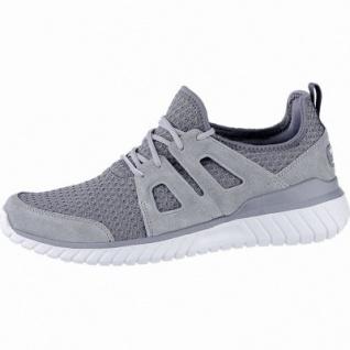 Skechers Rough cut coole Herren Leder Mesh Sneakers charcoal, Skechers Air Cooled Memory Foam-Fußbett, 4240168
