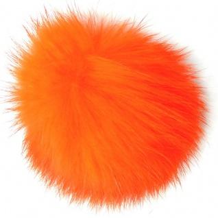 Echt Kaninchenfell Fellbommeln orange, Ø ca. 5 cm, mit Lederschlaufe