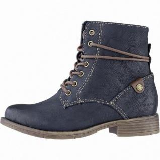 TOM TAILOR Mädchen Winter Leder Imitat Boots navy, 12 cm Schaft, Fleecefutter, weiches Fußbett, 3741162/36