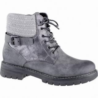 Marco Tozzi coole Damen Synthetik Winter Boots grau, Warmfutter, warme Decksohle, 1639348/42