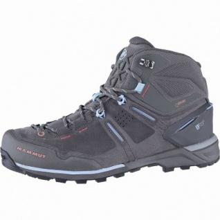 Mammut Alnasca Pro Mid GTX Women Damen Leder Outdoor Boots graphite, Base Fit, anatomisches Fußbett, 4441167/6.0
