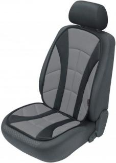bequeme Universal Auto Sitzauflage Alboreto anthrazit sehr hohes Rückenteil, 30 Grad waschbar, alle PKW