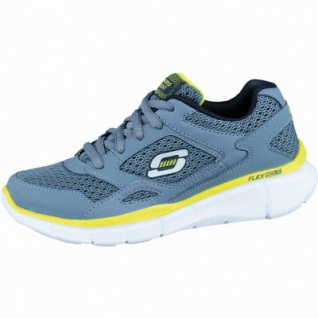 Skechers Lightweight modische Jungen Synthetik Sneakers charcoal yellow, Skechers Memory-Foam-Fußbett, 4036147/33