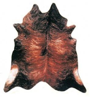 große südamerikanische Rinderfelle, Kuhfelle, braun-schwarz natur, seidig glänzendes Fell, ca. 3-4 m²