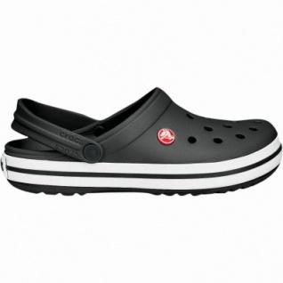 Crocs Crocband Damen, Herren Crocs schwarz, verstellbarer Riemen, 4233144/42-43