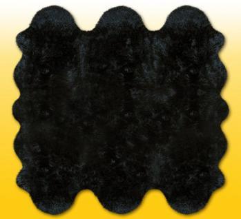 Fellteppiche schwarz gefärbt aus 6 Lammfellen, Größe ca. 185 x 180 cm, 30 Grad waschbar